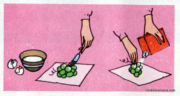 Frosted Grapes! Do-it-yourself garnishes (1965)