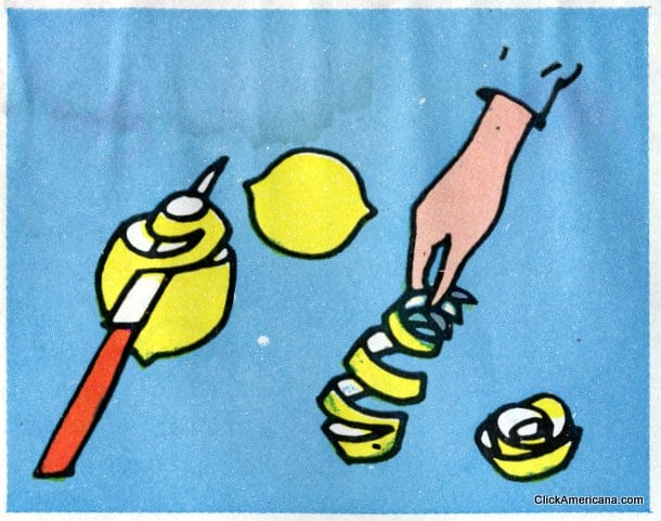 Lemon Rose! Do-it-yourself garnishes (1965)