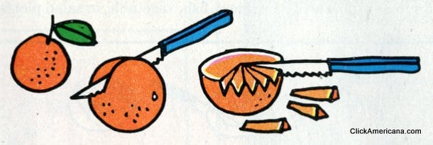 Fluted oranges - Do-it-yourself garnishes (1965)