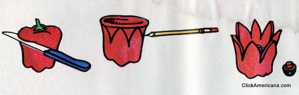 Red Pepper Poppy! Do-it-yourself garnishes (1965)