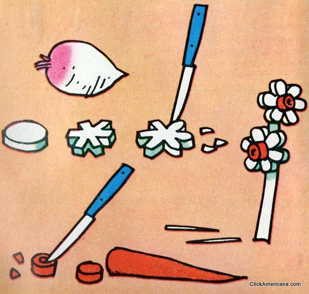 Spring Narcissus! Do-it-yourself garnishes (1965)