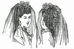Victorian bridal hairstyles (1870)