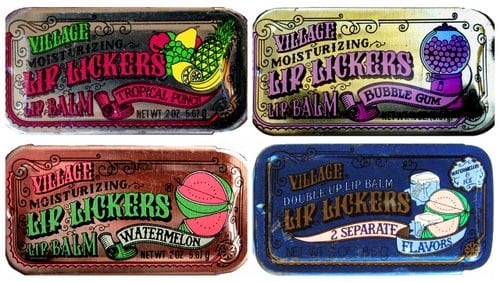 Vintage Lip Lickers flavored lip glosses ('70s & '80s)