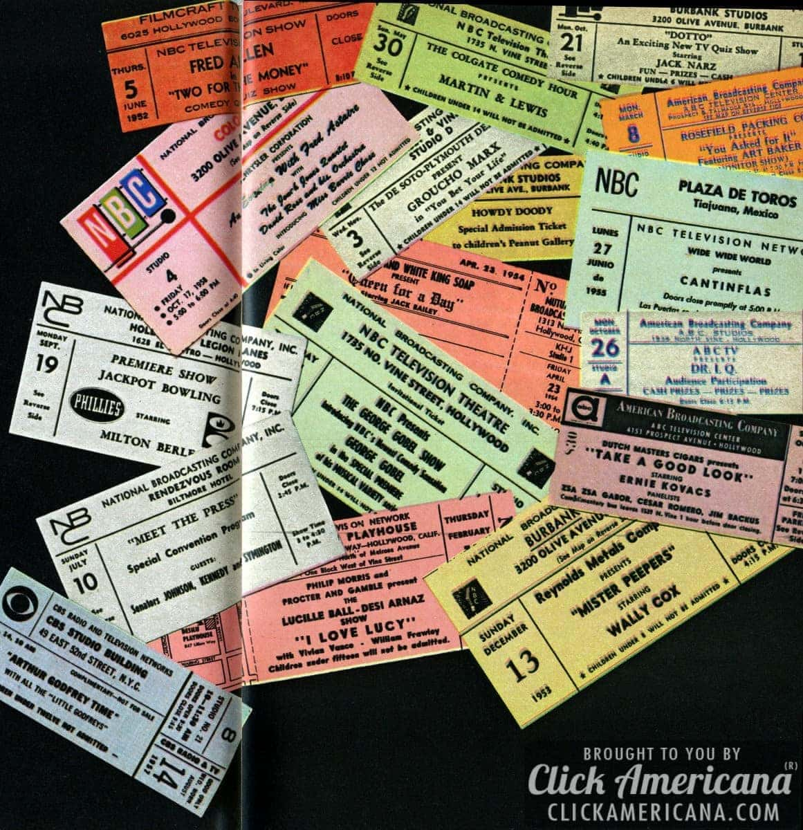 Collectors' items: Ticket stubs from the 1940s & 1950s