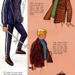 Vintage '60s ski gifts for active boys - jackets, pants, mufflers