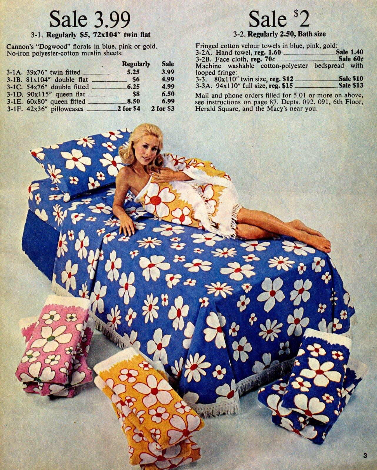 Vintage floral sheets