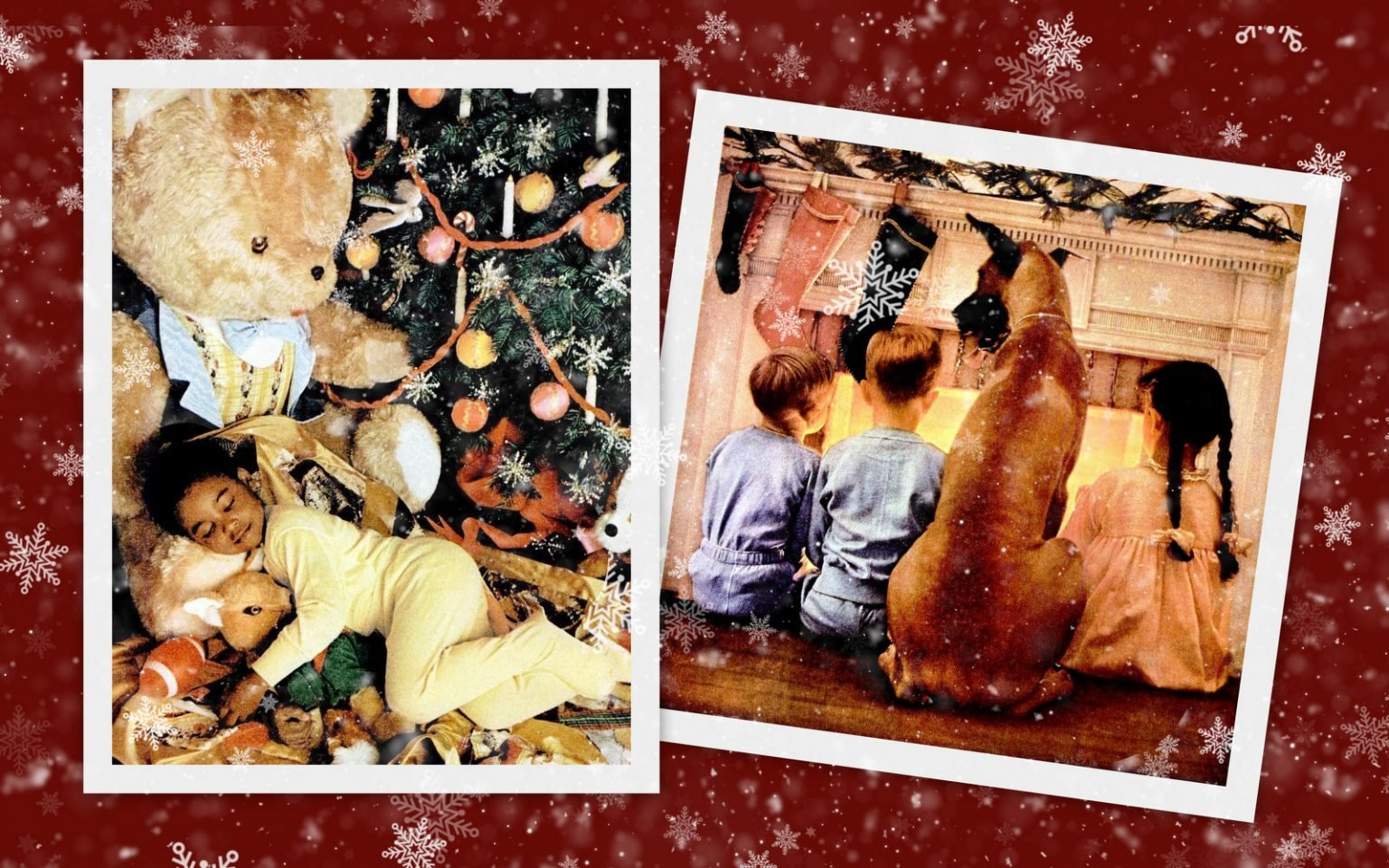vintage Christmas scenes so sweet and old-fashioned