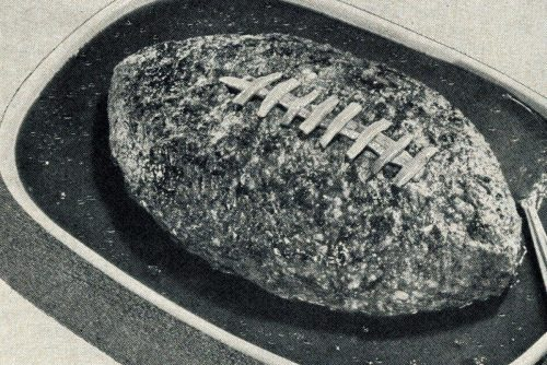 One of the original football meatloaf recipes (from 1955)