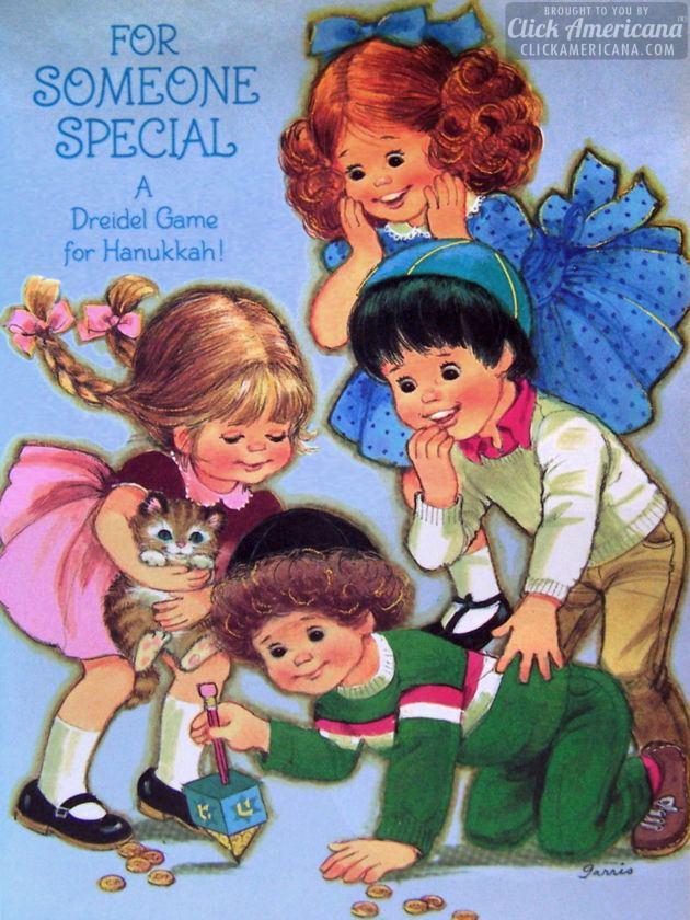 Chanukah Sameach! 8 vintage Hanukkah cards for kids
