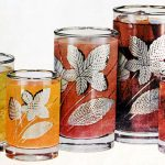 vintage Libbey drinking glass designs from the '60s