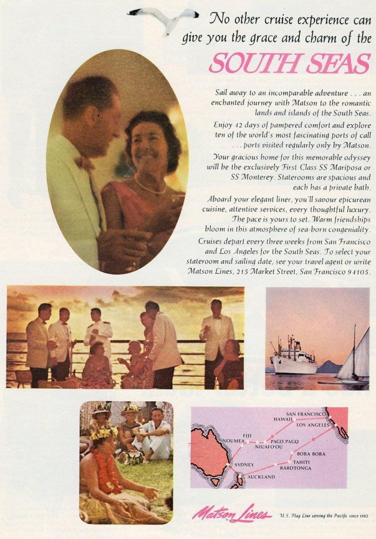 vintage Matson Lines South Seas 1966
