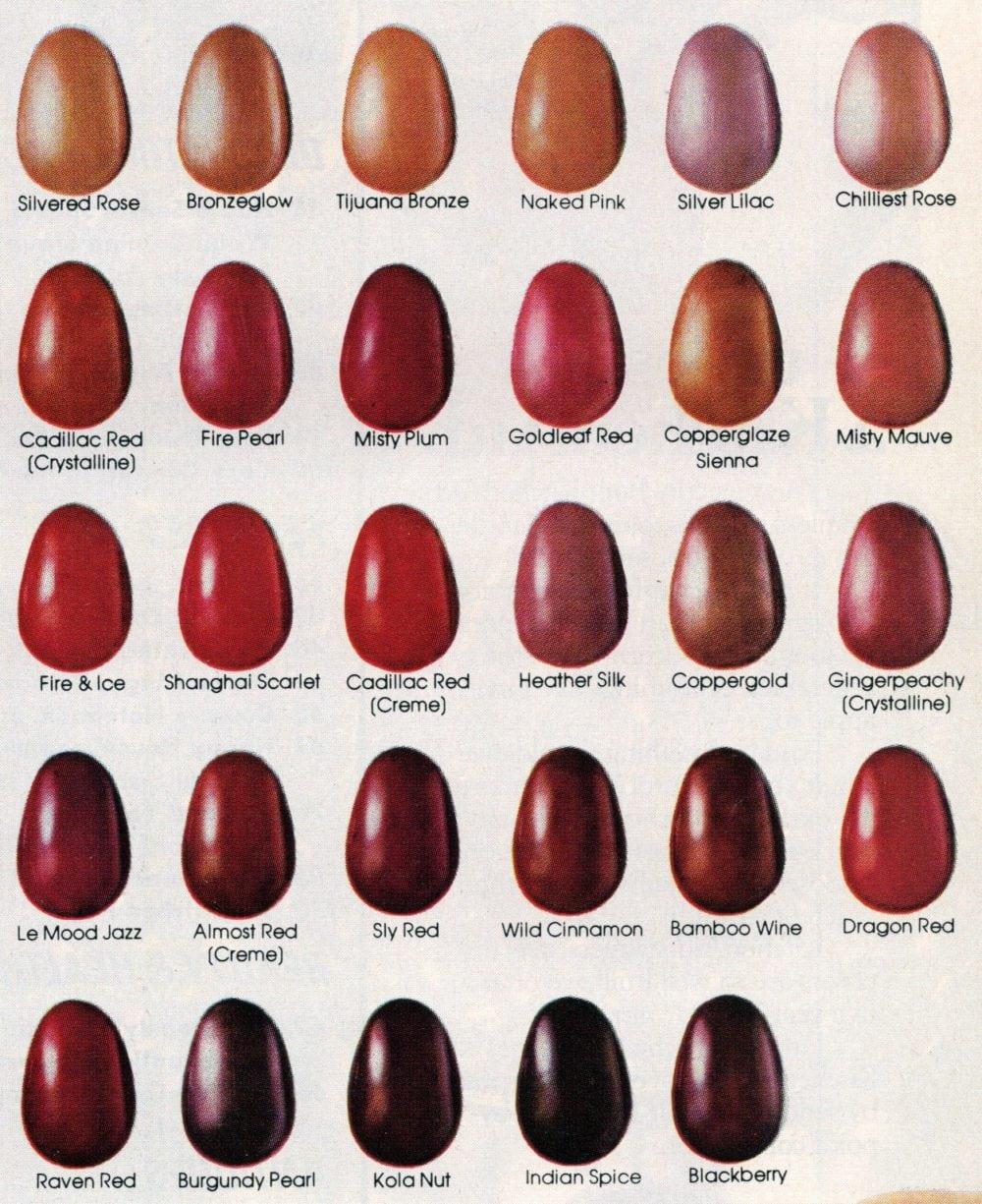 109 colors of retro Revlon nailpolish from the '80s