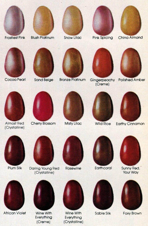 109 colors of Revlon nail polish (1981) - Click Americana