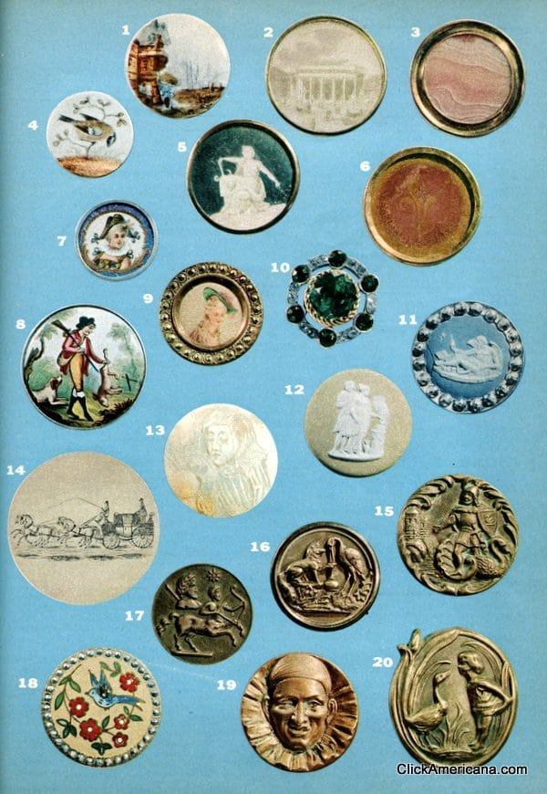Collecting vintage & antique buttons (1955)