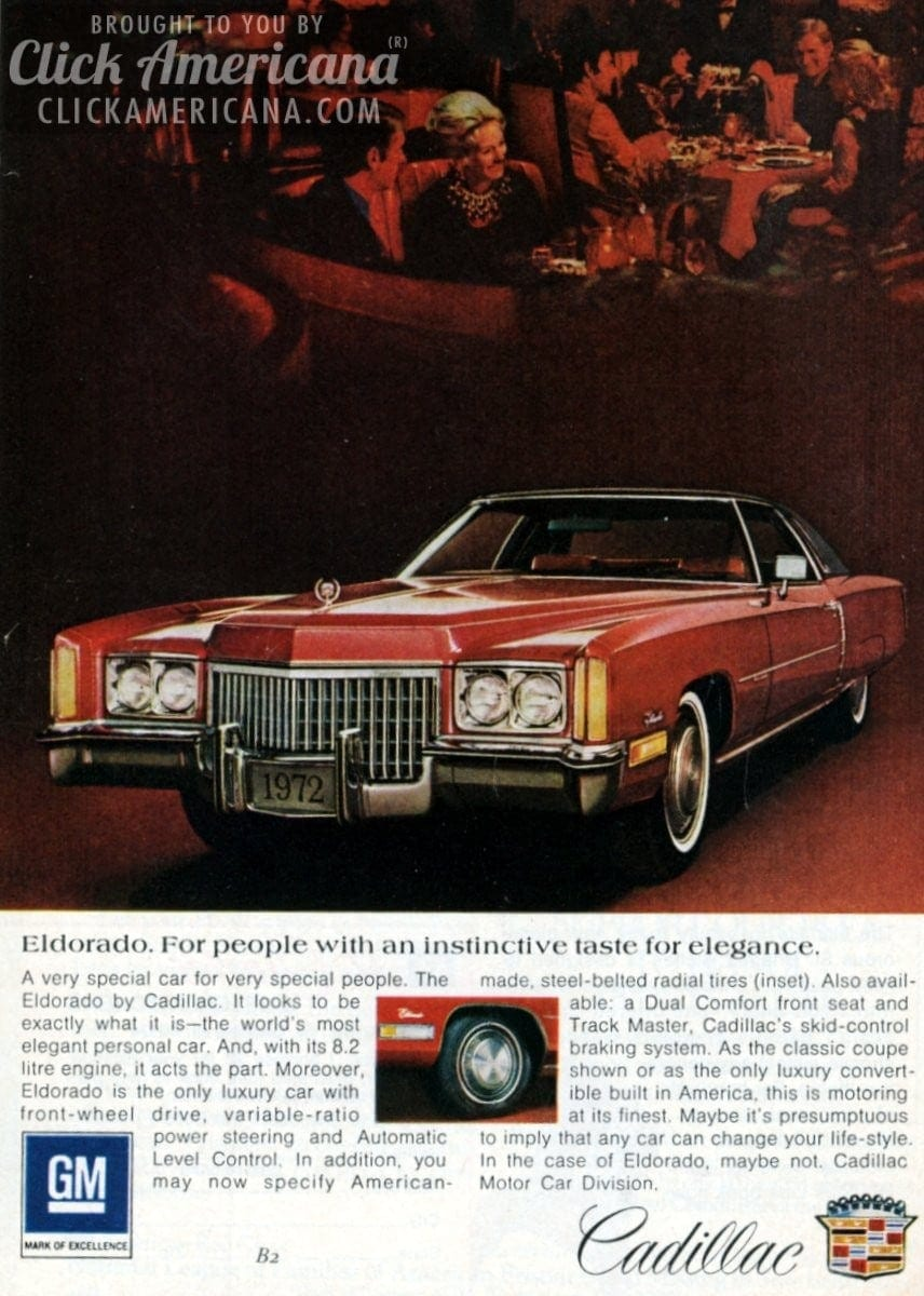 Cadillac Eldorado, luxury convertibles & other 1972 models - Click ...
