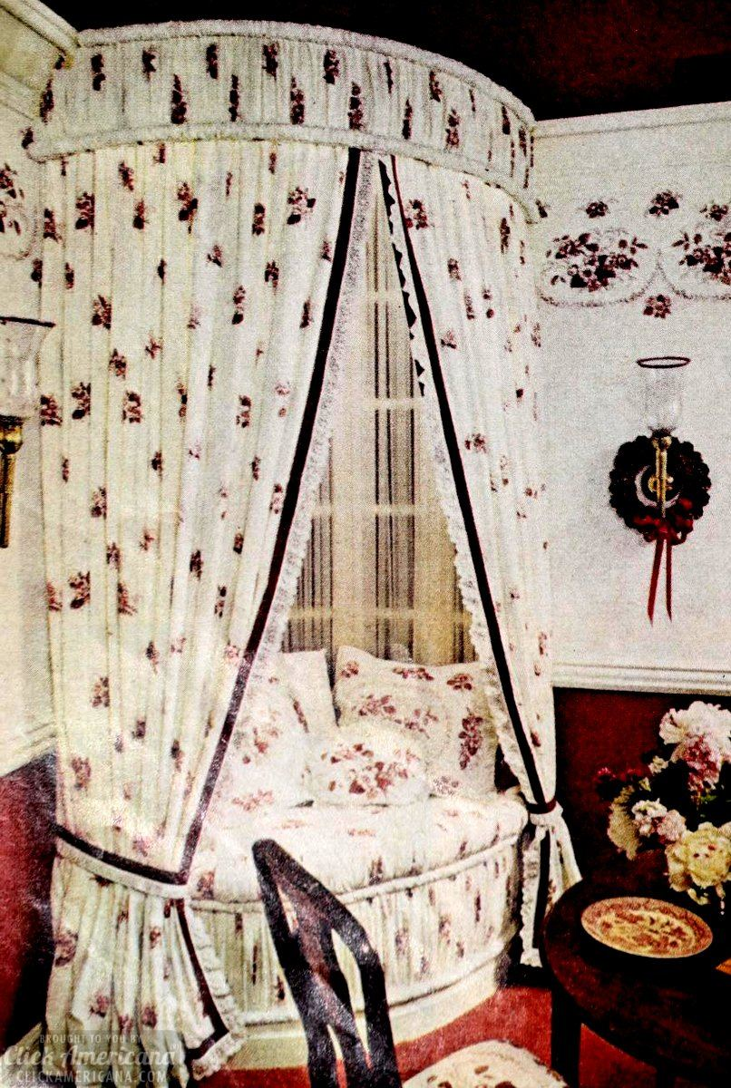 Vintage canopy beds from the 1970s