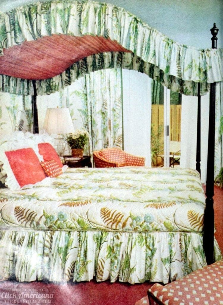 Retro canopy beds from the 70s