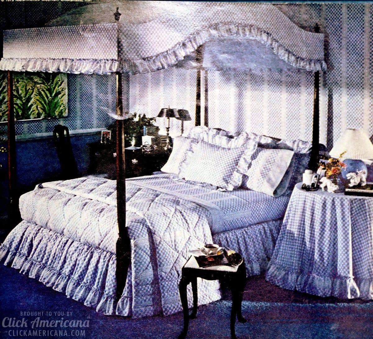 Classic canopy beds from the 70s