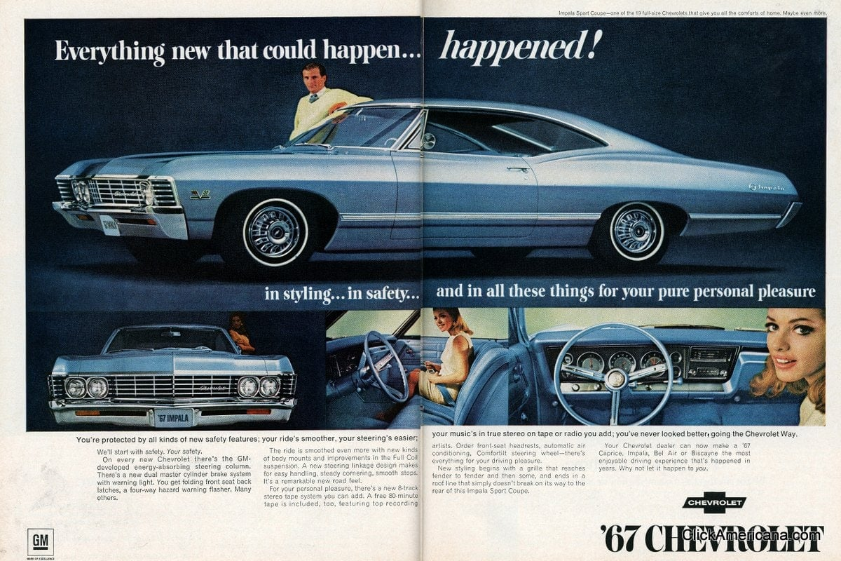 All Chevy chevy 1967 : The 1967 Chevrolet Impala : The 1967 Chevrolet Impala SS 396 and ...