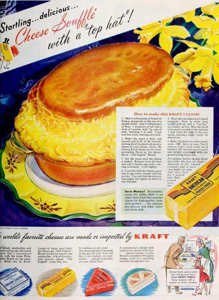 Kraft cheese souffle recipe (1948)