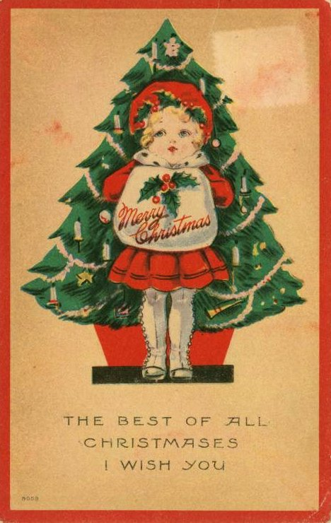 vintage-christmas-card-The best of all Christmases I wish you 1913