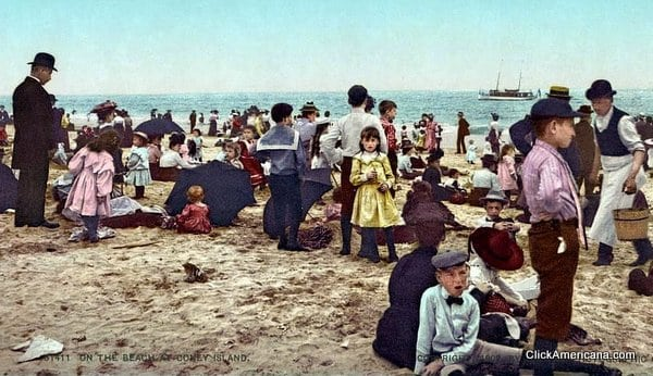 Coney Island beach scenes (1890s-1920s)