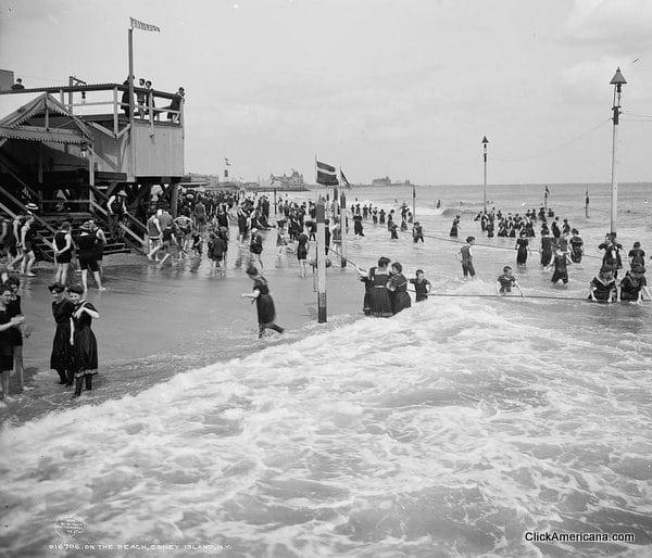 Coney Island Beach Scenes 1890s 1920s Click Americana