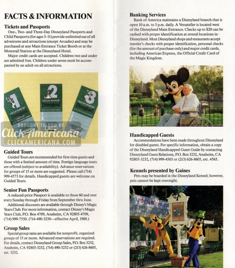 Disneyland facts and information