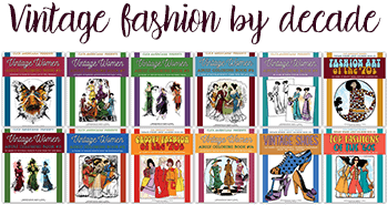 Vintage fashion adult coloring books