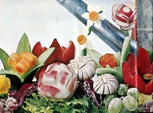 Fancy fruit & veg! Do-it-yourself garnishes (1965)