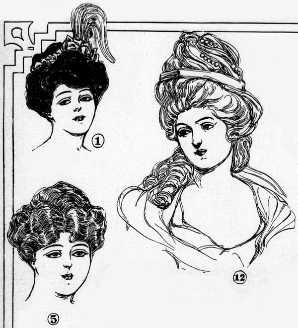 Vintage hairstyles: Return of the ornate coiffure (1906)