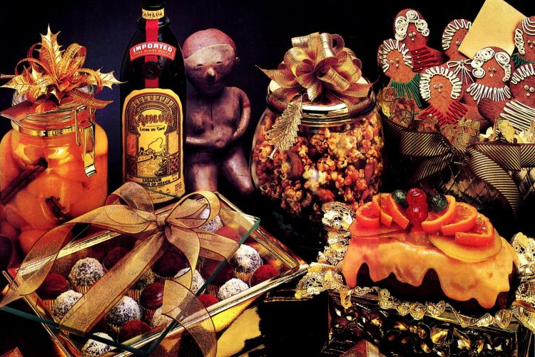 vintage holiday recipes made with Kahlua liqueur