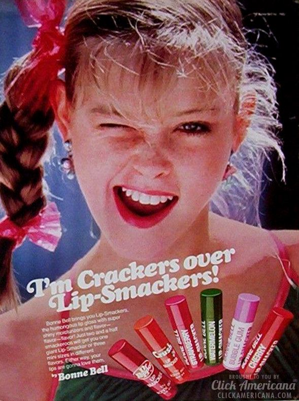 vintage lip smackers ad 1983