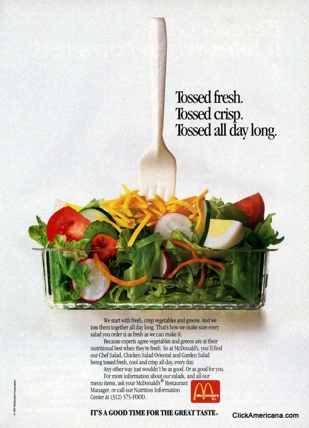 McDonald's salads: It's a good time for the great taste (1987)