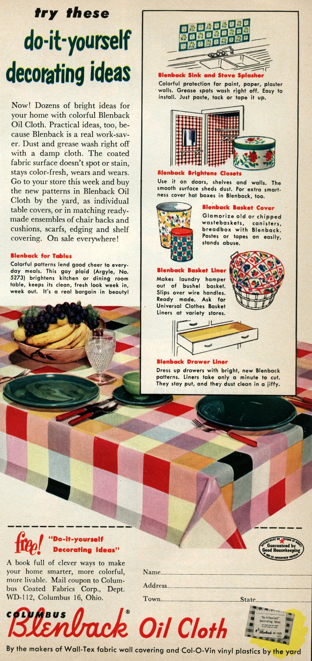 vintage oilcloth decor from 1952 (2)