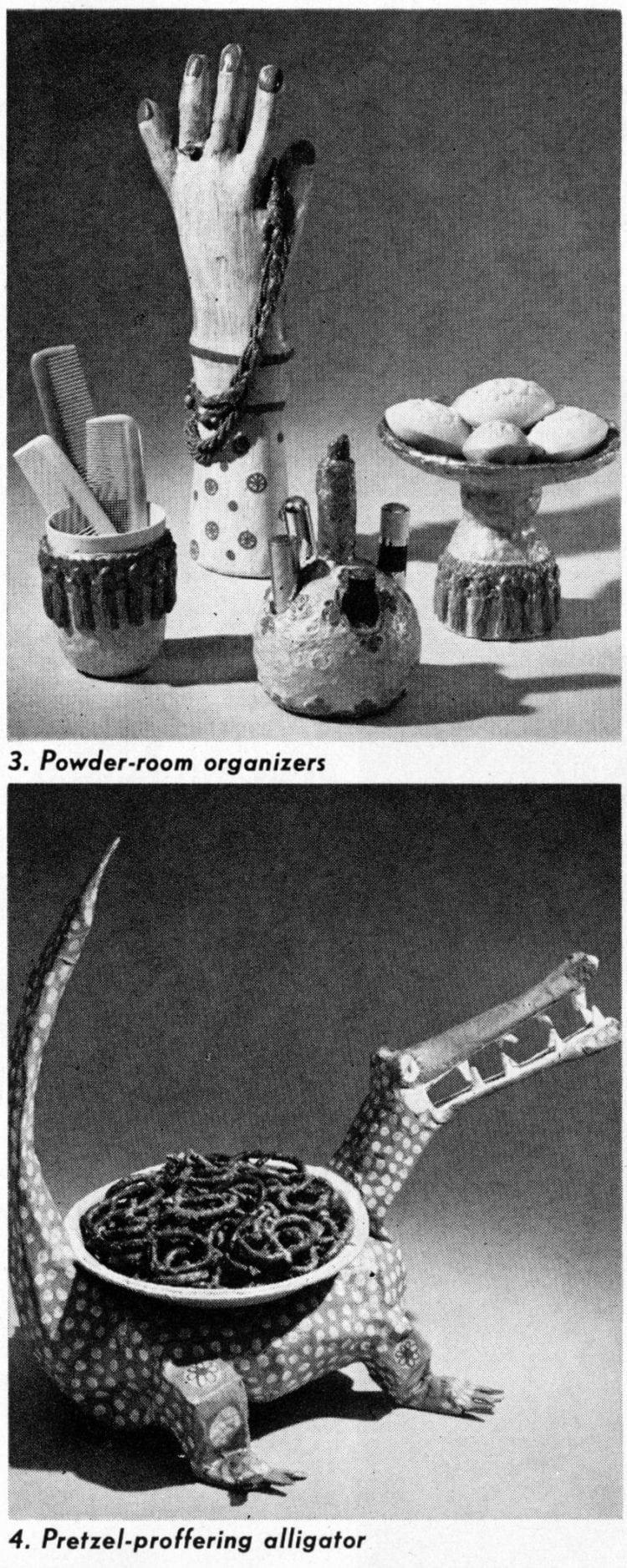 papier-mache crafts - organizers