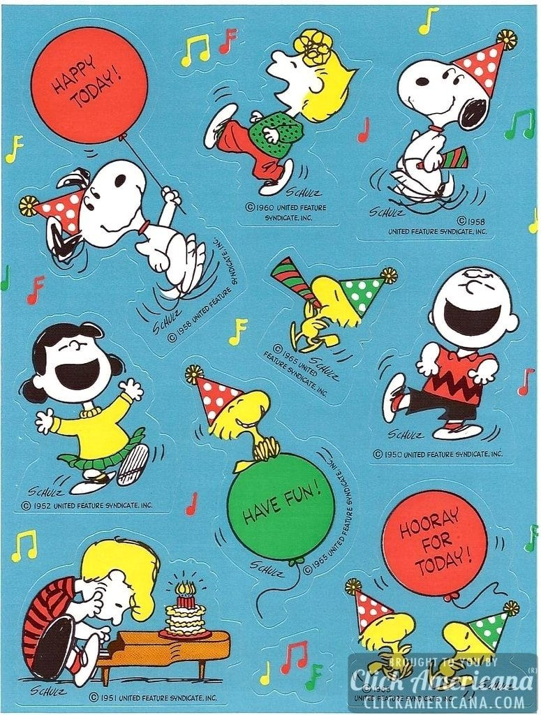 Vintage Peanuts Amp Snoopy Sticker Sheets 70s Amp 80s