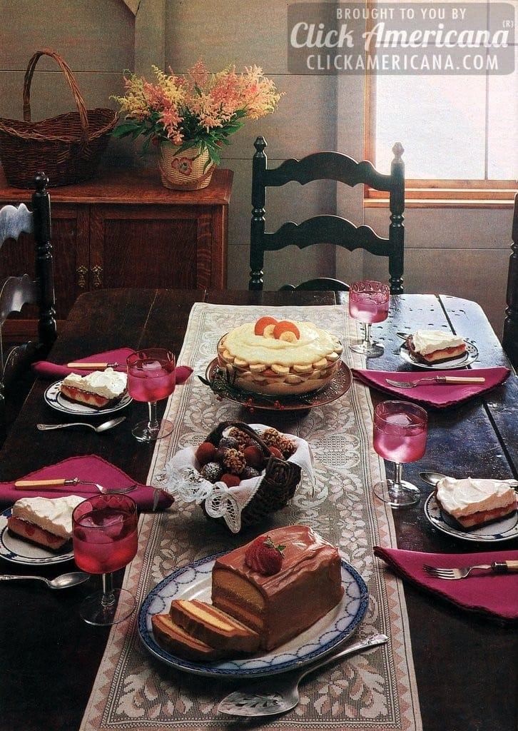 Torte, Truffles, PB&J Pie & Banana Pudding recipes (1985)