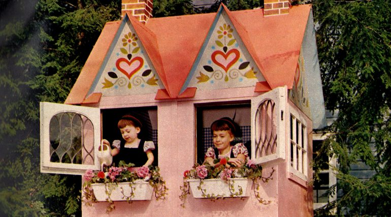 vintage playhouse design 1960s