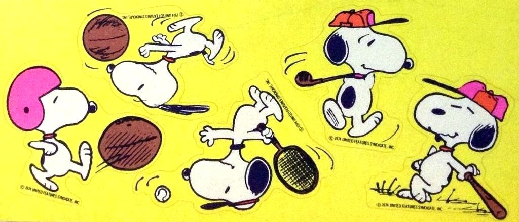 vintage-snoopy-sports-stickers-sheet