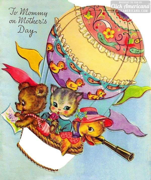 Vintage card: To mommy on Mother's Day