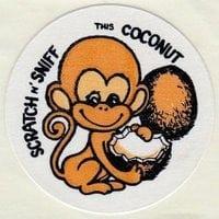 vintage-trend-sticker-coconut-monkey