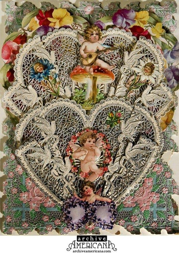 Vintage Victorian Valentines cards 1860 Click Americana – Vintage Victorian Valentine Cards