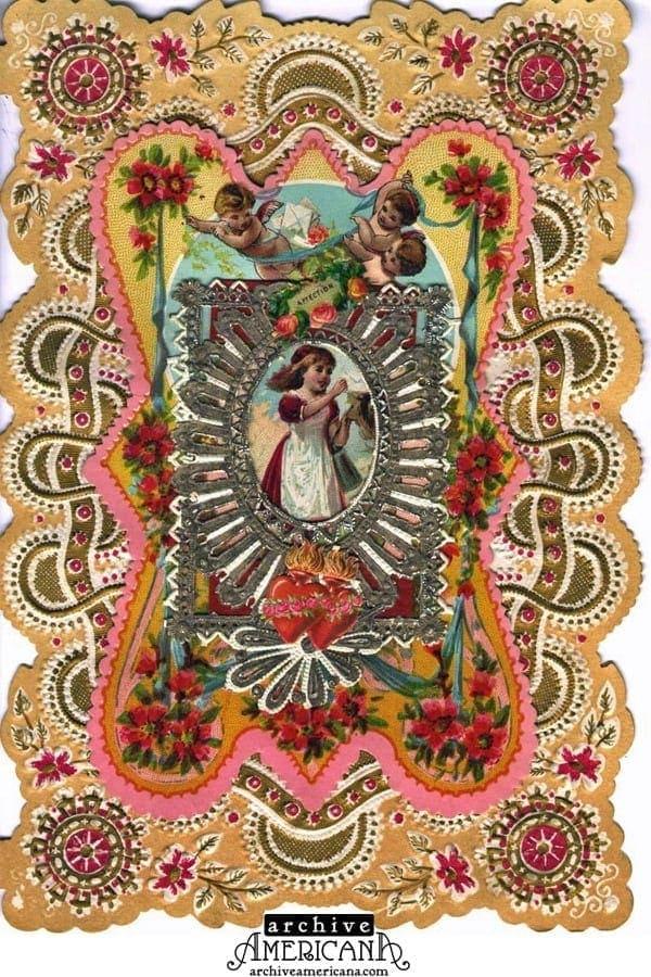 Vintage Victorian Valentines cards 1860 Click Americana – Victorian Valentine Card