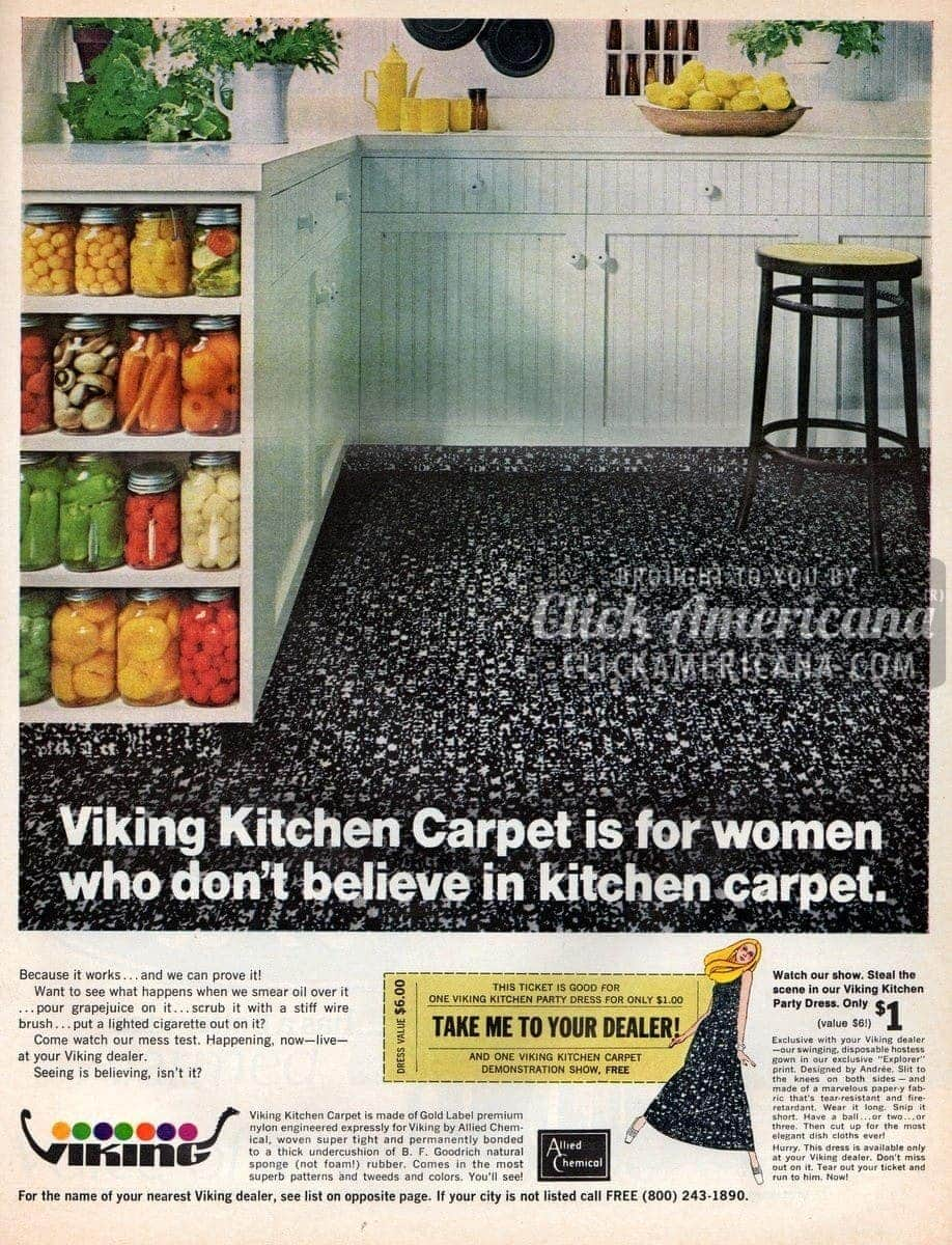 Kitchen carpet for people who don't like kitchen carpet (1968)