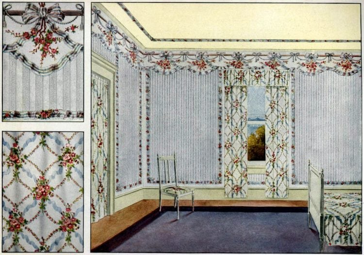 Vintage home style: Wall decor and wallpaper (1910) - Click Americana
