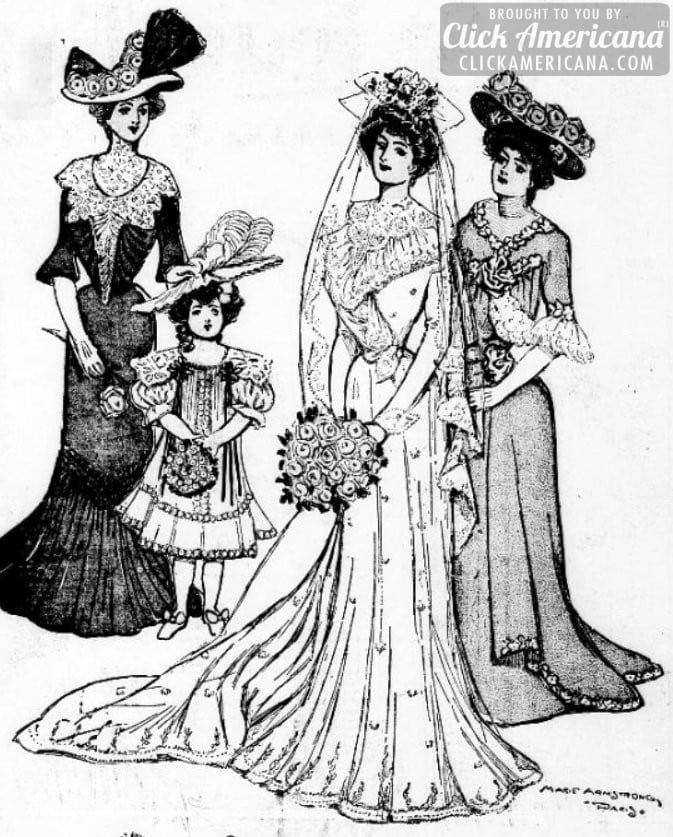 Vintage & antique bridal gowns from the early 1900s