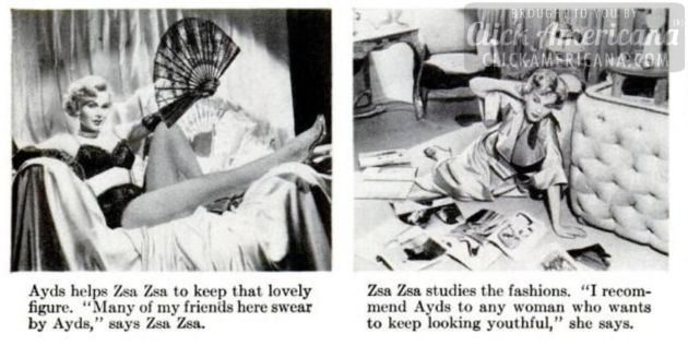 vintage weight loss zsa za gabor