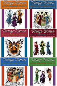 Vintage Women: Adult Coloring Books
