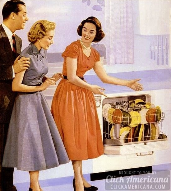 Retro Woman In Kitchen: How To Be A Perfect Fifties Housewife: In The Kitchen